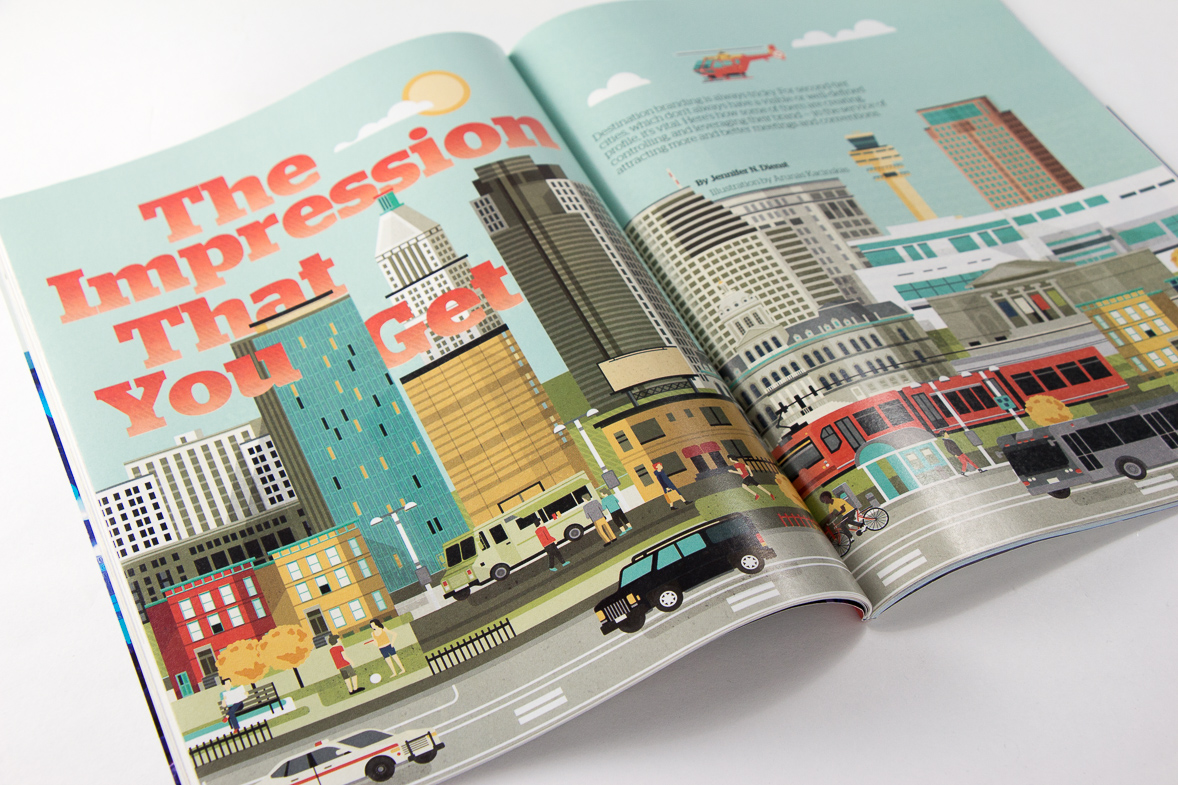 Point Five Convene magazine spread