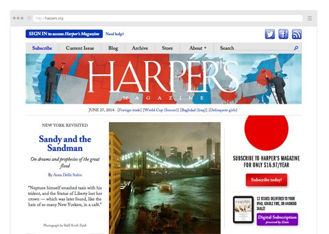 Point Five Harpers Magazine website