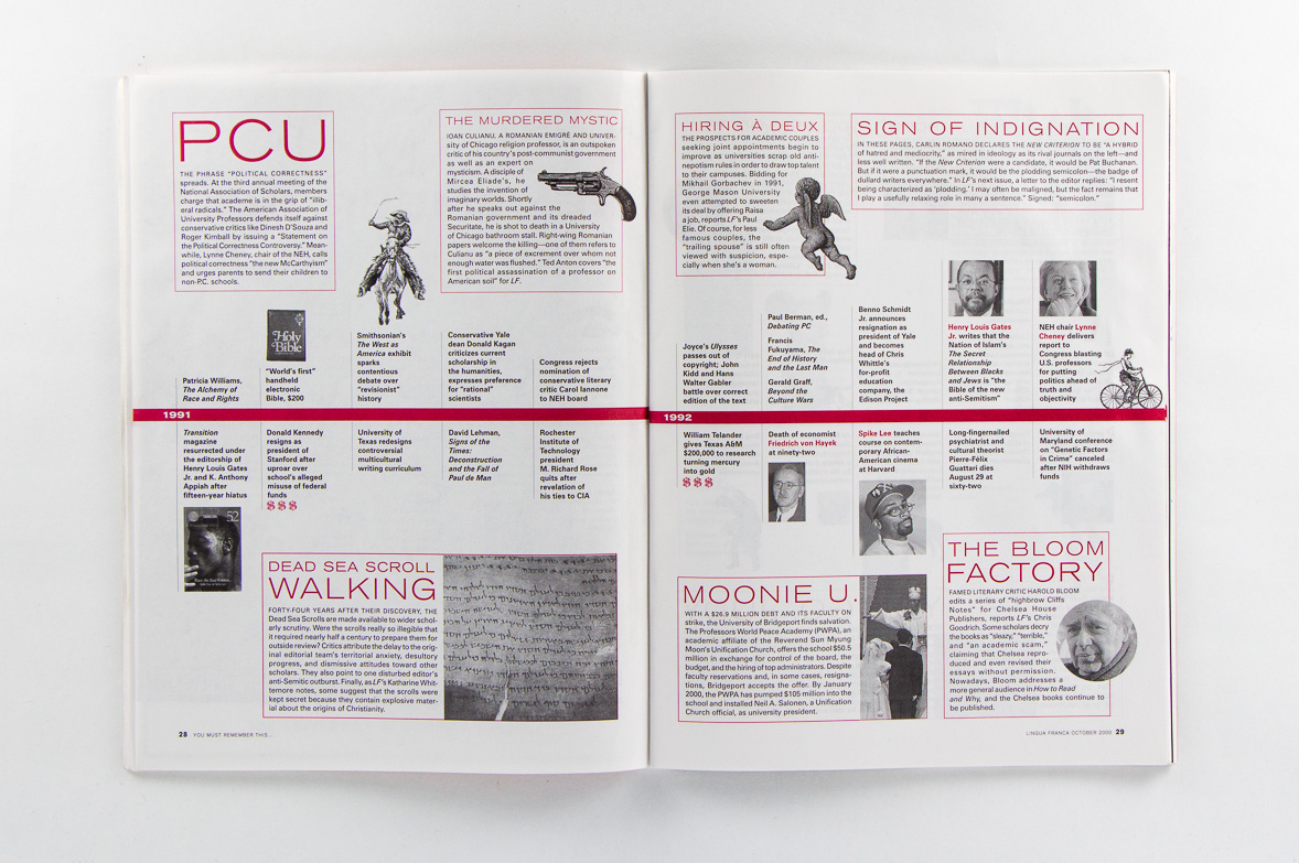 Point Five Lingua franca magazine spread