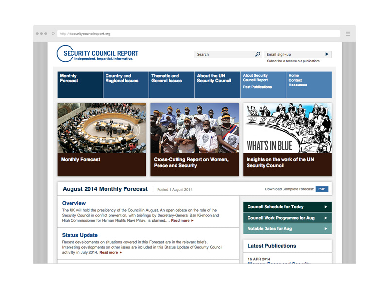 Point Five Security Council Report website