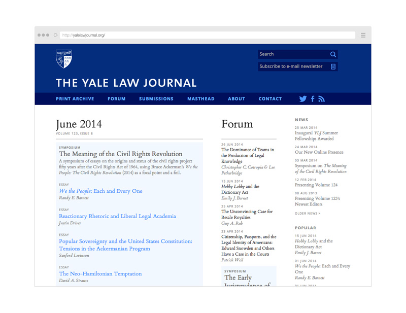 Point Five The Yale Law Journal website