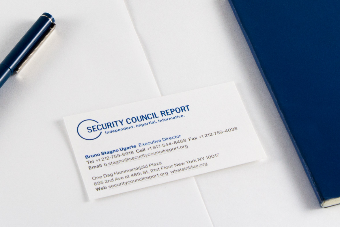 Security Council Report identity