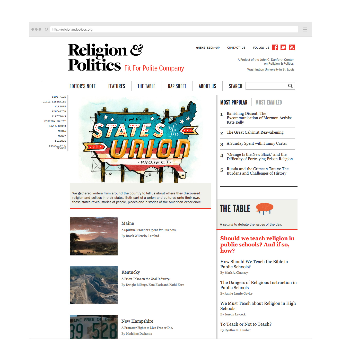 Point Five Religion & Politics website
