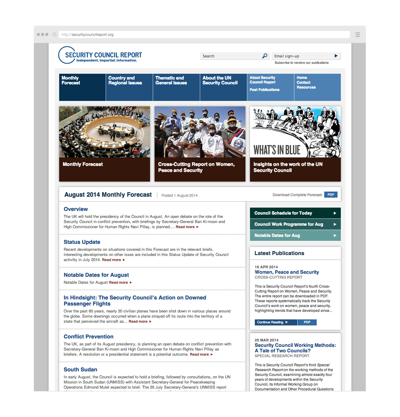 Security Council Report website