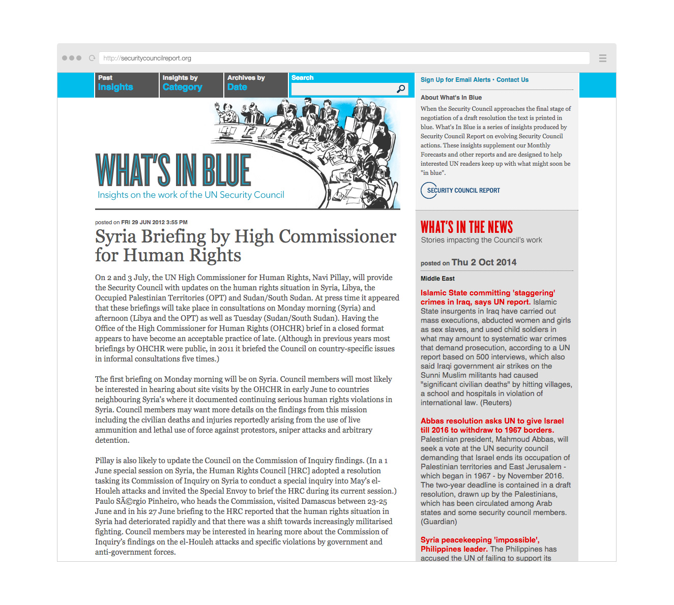 Point Five What's in Blue website