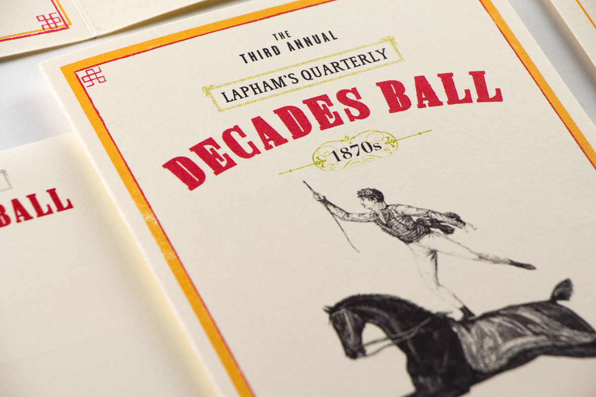 Lapham's Quarterly Decades Ball 1870s