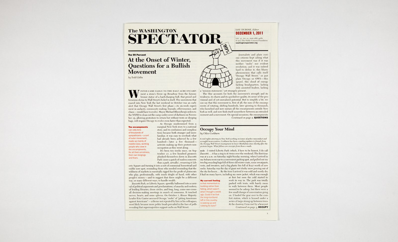 Point Five The Washington Spectator cover