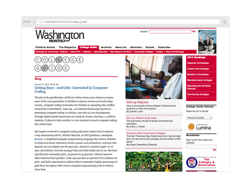 Point Five Washington Monthly website